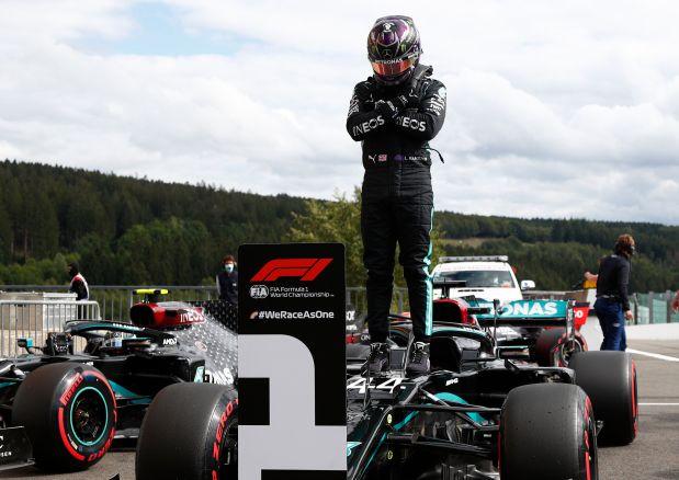 Hamilton takes pole