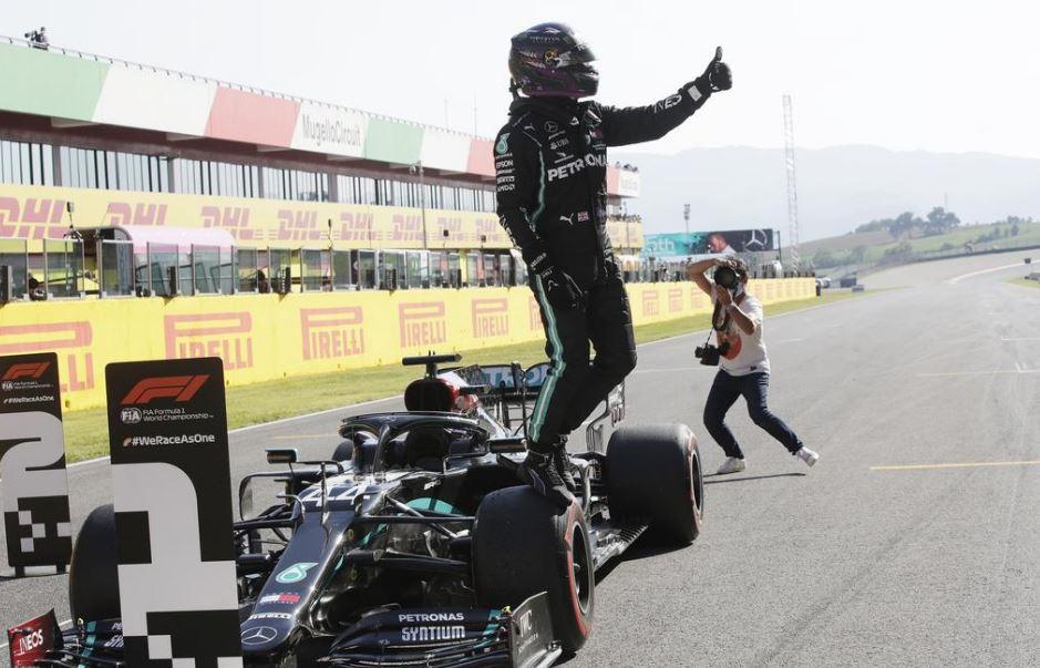 Hamilton beats Bottas to first Tuscan GP pole
