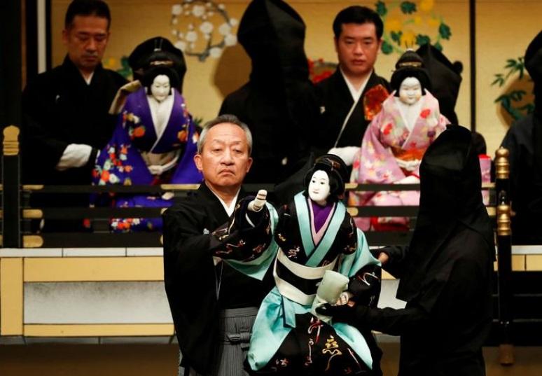 Traditional puppets for children help Japanese master endure Covid-19 shutdown