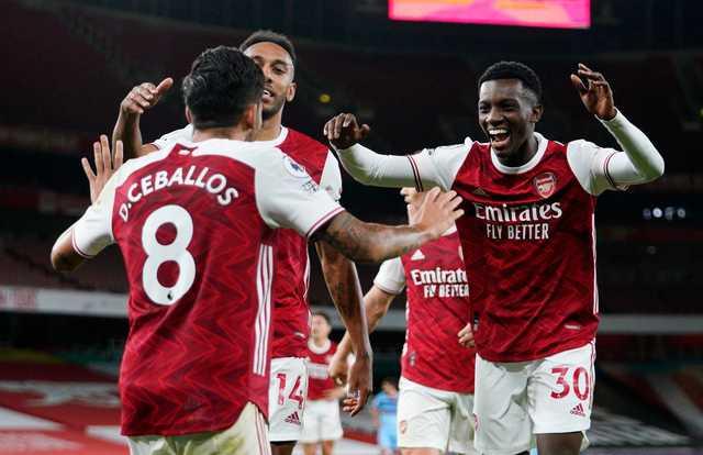 Late Nketiah strike gives Arsenal 2-1 win over West Ham
