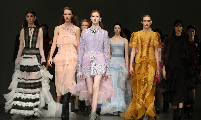 Designer Bora Aksu presents pandemic-inspired collection at London Fashion Week