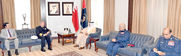 <p>Interior Minister General Shaikh Rashid bin Abdulla Al Khalifa received new US Naval Forces Central Command, US Fifth Fleet and Combined Maritime Forces Commander Vice Admiral Samuel Paparo and discussed security co-operation.</p>