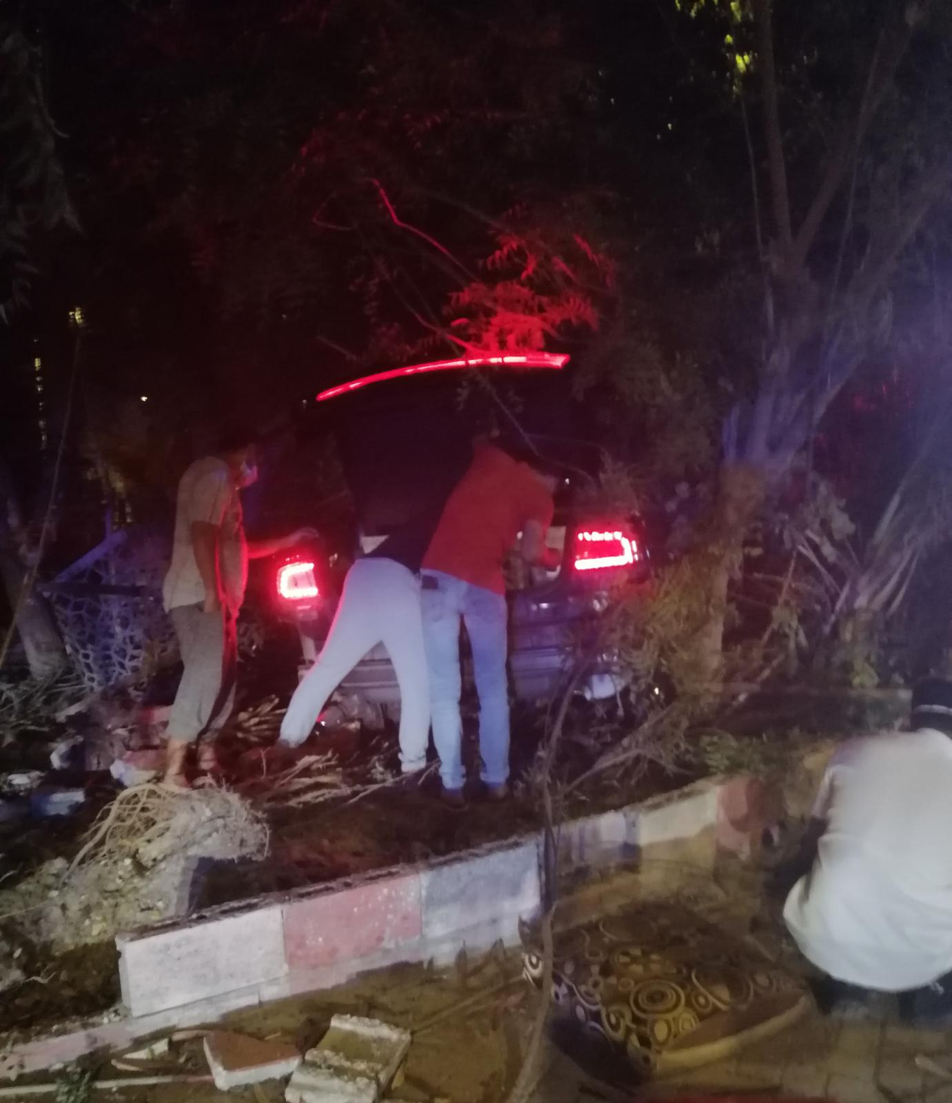Two hurt in hit-and-run collision