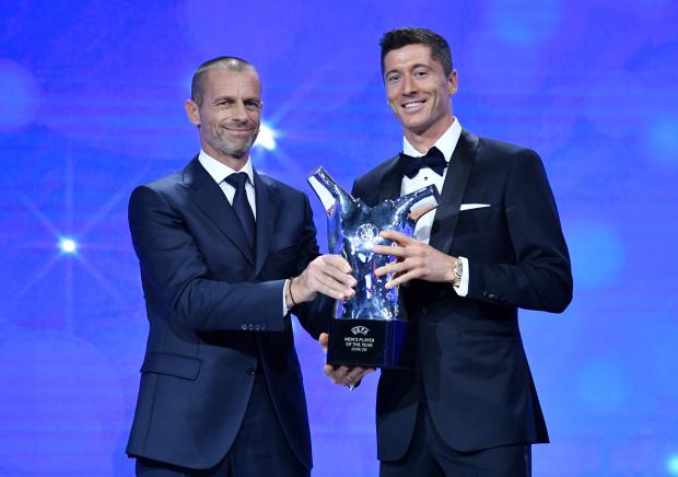 Lewandowski wins UEFA Player of the Year award