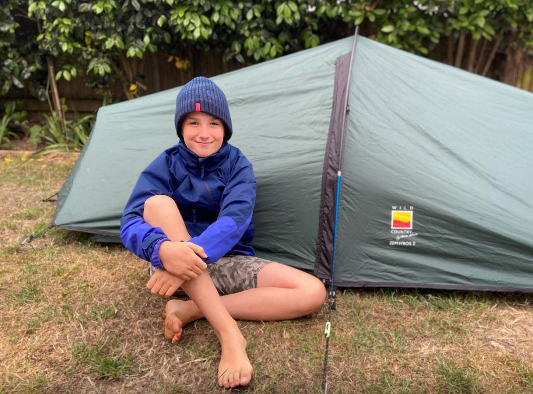 British boy slept for months in garden tent to raise money for hospice