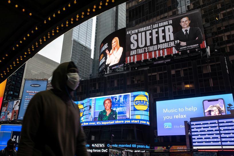 Ivanka Trump, Jared Kushner threaten lawsuit over Times Square billboards