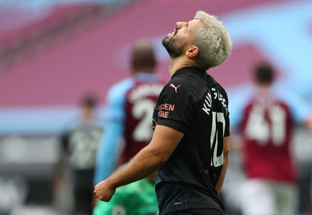 City's Aguero ruled out for four weeks