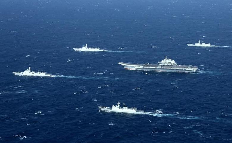 China aircraft carrier sails through Taiwan Strait